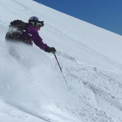 Descente du Pic du Midi de Bigorre à ski avec un guide de haute montagne