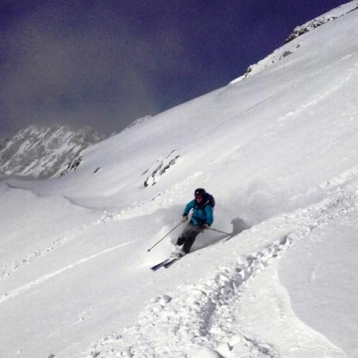 Poudreuse dans les Pyrénées