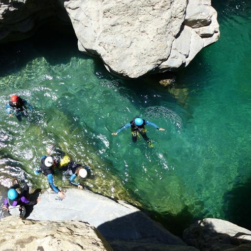 canyoning dans les hautes pyrénées, le Miraval inférieur