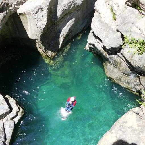 canyoning dans les pyrénées espagnoles, le miraval