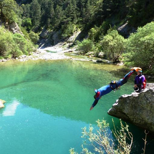 canyoning proche de saint lary, le Miraval inférieur