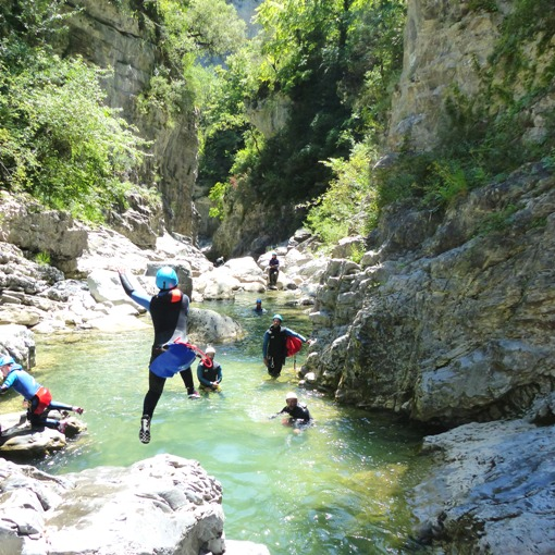 Saut en canyoning Miraval