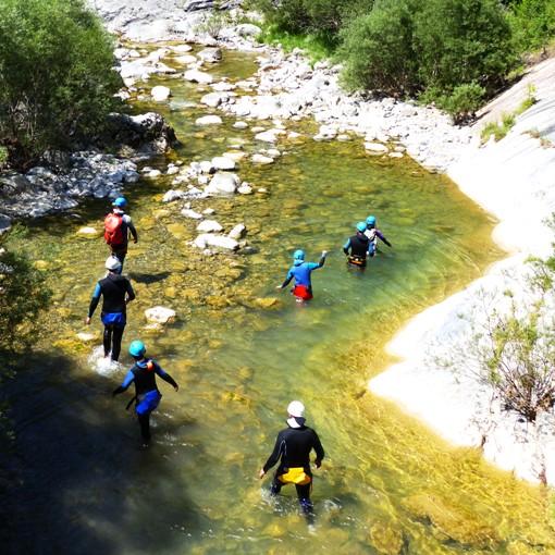 A l'entreé du canyoning du Miraval Intégral...