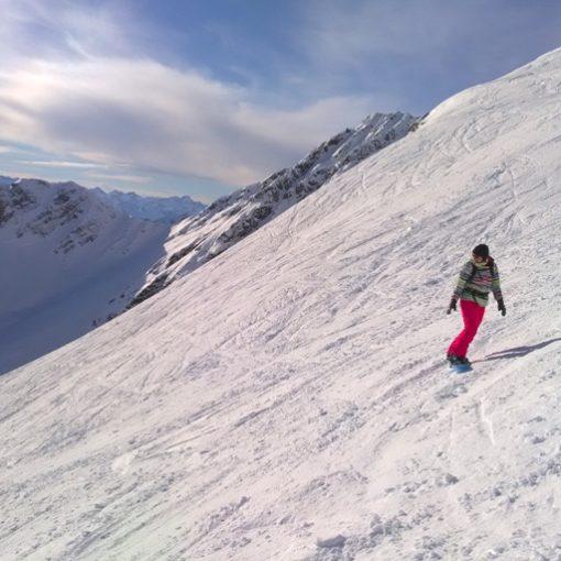 descente du Pic du Midi en snowboard