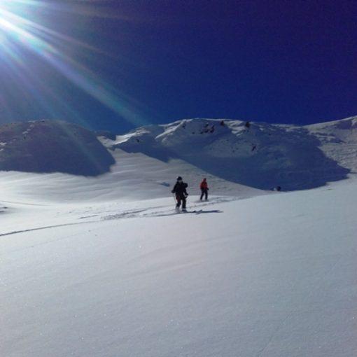 Descente du Taoulet, la Jaune. Ski hors piste Pic du midi la Mongie